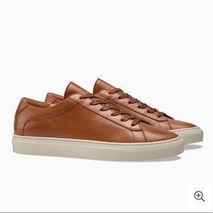 KOIO Capri Castagna Brown Leather Sneakers